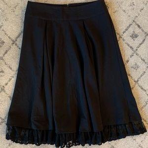Full Black Twirling Skirt